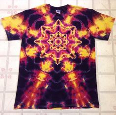 Hey, I found this really awesome Etsy listing at https://www.etsy.com/listing/206917263/tie-dye-shirt-mandala-star-burst-its-on