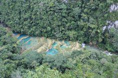Semuc Champey, Guatemala  Natural Land Bridge...  so fun.