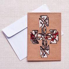 Small Kitenge Card- Ethiopian Cross