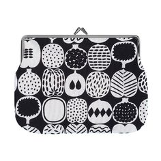 Kompotti puolikas purse, black-white Manufacturer: Marimekko Design: Aino-Maija Metsola