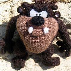 Patrones Amigurumi: El demonio de Tazmania - Patrón de crochet