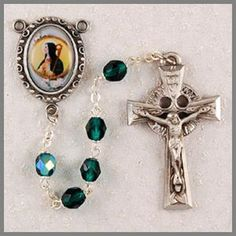 Our Saint Brigid Rosary Beads with the image of Saint Brigid in the center is magnificent. Shop huge selection of St. Saint Brigid is the patron Saint of Ireland. Celtic Knot Jewelry, Irish Jewelry, Jewelry Knots, Irish Wedding Rings, Wedding Rings Vintage, St Brigid Cross, Beads For Sale, Rosary Beads, Gold Labels