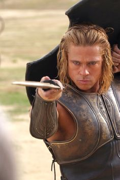 Brad Pitt long hair in Troy http://www.menshairstyleshaircuts.net/