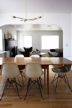 eiffel leg chairs + wooden dining table @Leo C