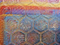Gelli Monoprinting with Molding Paste Texture Plates As the texture plate becomes covered in layers of paint, it can take on a wonderful patina. You may want to use it as a piece of art in itself — or as the beginning of a new painting or collage! Or how about book covers!