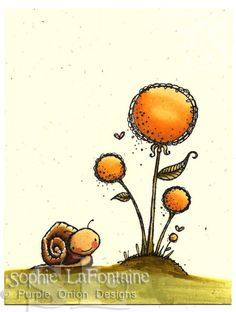 Snail yellow flower