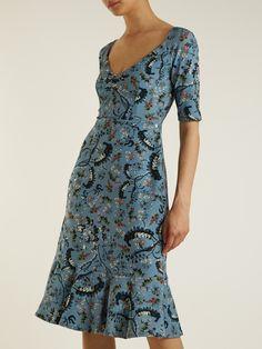 Glenys Paisley Vine-print stretch cady dress   Erdem   MATCHESFASHION.COM