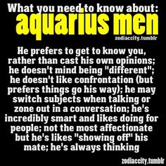 Aquarius Men