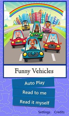 funny stories funny vehicles is a rhyming tale that tells the story of