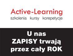 Przypominamy i zapraszamy. #ActiveLearning