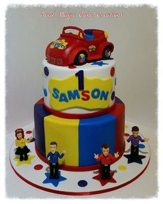 Unique Wiggles Cake Toppers Decorations regarding The Wiggles Birthday Cake With Big Red Car Cake Topper Photo Wiggles Cake, Wiggles Party, Wiggles Birthday, The Wiggles, Birthday Party Images, 3rd Birthday Cakes, Baby Boy First Birthday, Boy Birthday Parties, Birthday Ideas
