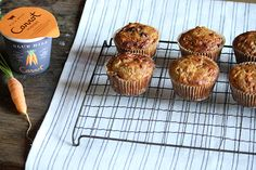 """Blue Hill Oatmeal Muffin Recipe - """"Moist and bursting with carrots, these muffins aren't just for breakfast! Carrot Muffins, Oatmeal Muffins, What's For Breakfast, Breakfast Recipes, Muffin Recipes, Snack Recipes, Healthy Baking, Healthy Snacks, Vintage Baking"""