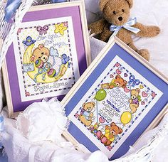 Star Light & Baby Bears Samplers Cross Stitch Patterns ePattern - Leisure Arts