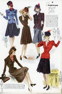 Modes et travaux n° ? - années 40 - j'ai trouvé cette page seule, je ne peux donc pas la dater avec précision.