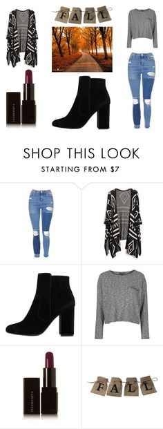 """""""Fall look 🍂"""" by yseultdel ❤ liked on Polyvore featuring Topshop, MANGO and Illamasqua"""