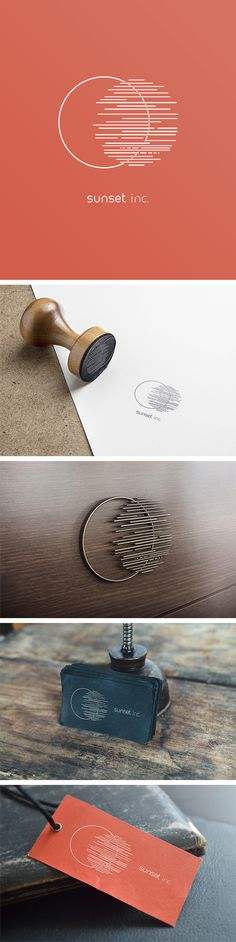 Sunset Inc. What a cool idea! The minimalist style makes sure it'll… – corporate branding identity Corporate Design, Brand Identity Design, Graphic Design Branding, Cool Logos Design, Circle Graphic Design, Logo Desing, Corporate Branding, Blog Logo, Branding Agency