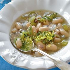 White Bean Soup with Gremolata | MyRecipes.com. Trying this tonight. Hope it's good!