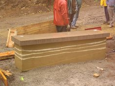 Building A Rammed Earth Garden Wall on Saturna