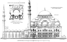 Suleymaniye Mosque - Istanbul, Turkey - Elevation and plan published by Cornelius Gurlitt in 1912 -  Wikipedia, the free encyclopedia