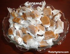 Aunt Janet's Caramels - Creamy homemade caramels that melt in your mouth! Perfect for gift giving.... Recipes, Food and Cooking