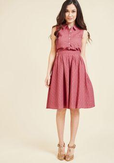 Eyelet Excitement Midi Skirt | ModCloth
