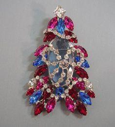 John Catalano Christmas tree brooch