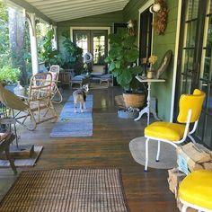 instagram: @helenachristensen Helena Christensen's Catskills home porch
