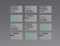 — personal business card on Behance
