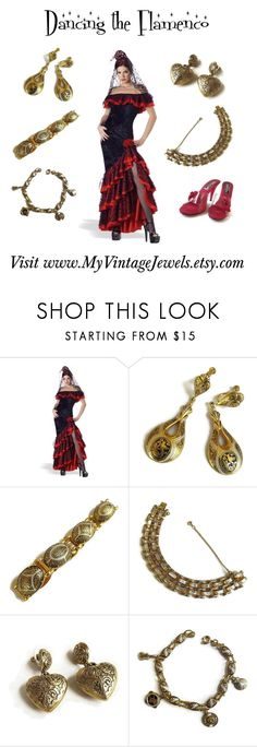 """""""Dancing the Flamenco"""" by myvintagejewels ❤ liked on Polyvore featuring vintage"""