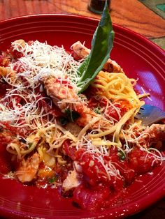 """Carrabba's """"Tag Pic Pac"""" Meal.  (Tagliarini pasta with wood grilled chicken in Picchi Pacchiu sauce of crushed tomatoes, garlic, olive oil and basil)"""