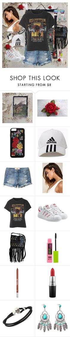 """""""Classic"""" by billiej-712 ❤ liked on Polyvore featuring Boohoo, adidas, Hollister Co., LULUS, And Finally, adidas Originals, Sonia Rykiel, Maybelline, Urban Decay and MAC Cosmetics"""