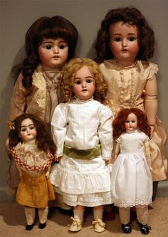 antique doll collection.  I had a few of these once. Had to de-clutter, sigh.