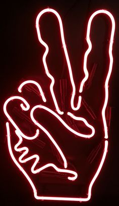 #PeaceSign Personalized #NeonSign #Neon http://www.neonandmore.com/neon-signs/custom-neon-signs.html