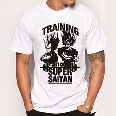 Super Saiyan 2016 New Fashion Son Goku Training Men T Shirt O-Neck Casual Famous Tops The Dragon Ball Z Funny Tee