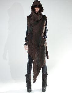 katisque: Demoboza 'OVER VEST BROWN SHEPHERD'. .apocalypse fashion, apocalyptic dress, post-apocalyptic/dystopian fashion, post-apocalypse