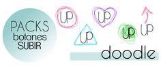 El Perro de Papel: Diseño Personalizado para el Blog, tutoriales, fondos y plantillas para blogger: Botones Subir Doddle Gratis