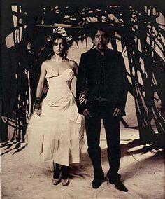 Tim Burton & wife Helena Bonham