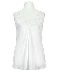 Damen Satin Top mit Spitze, weiss von Made in Italy   meinkleidchen Damenmode aus Italien Shirts & Tops, Satin, Women, Fashion, Sequins, Italy, Fashion Women, Moda, Fashion Styles