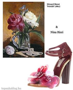 Painting by Edouard Manet, shoes by Nina Ricci