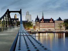 Das sanierte historische museum frankfurt (rechts im Bild) © hmf, Foto: J. Baumann