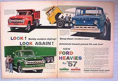 Vintage-1957-Ford-Trucks-Ad-Heavies-Tilt-Cab-T-800-Dump-Truck-F-900 ...