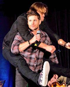 Jared looks like a monkey while Jensen just looks done with life.