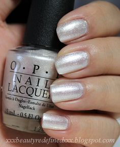 OPI Happy Anniversary wore on my ring fingers on my wedding day