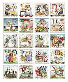 "Hungry Animal Alphabet Fabric Panel, Riley Blake P10180-PANEL, 36"" Quilt Panel, J Wecker Frisch by Jambearies on Etsy"