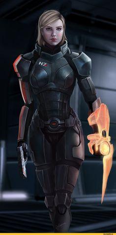ME art,фэндомы,ME персонажи,Femshep,Commander Shepard