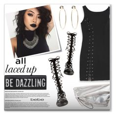 """""""All Laced Up for Spring with bebe: Contest Entry"""" by chubbycinth ❤ liked on Polyvore featuring Bebe, Raye, Post-It, Marni and alllacedup"""