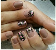 Rositas Dipped Nails, Flower Nails, Easy Nail Art, Manicure And Pedicure, Spring Nails, Cute Nails, Nail Art Designs, Hair Beauty, Ely