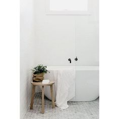 """Bathroom Bathroom inspo! Love the simplicity of this bathroom. The combination of the small marble tile with a touch of timber #bathrooms #pinterest #interiorinspo #designerbathrooms #love"""" Photo taken by @lovestylemix on Instagram, pinned via the InstaPin iOS App! http://www.instapinapp.com (10/26/2015)"""