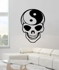 Taoism (Daoism) Symbol Yin and Yang Skull Wall Vinyl Decal Art Sticker Home Modern Stylish Interior Decor for Any Room Smooth and Flat Surfaces Housewares Murals Window Graphic Bedroom Living Room (3668) stickergraphics http://www.amazon.com/dp/B00IFET4TQ/ref=cm_sw_r_pi_dp_DArUtb0AG4C7MAC5
