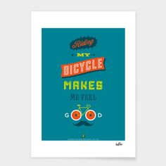 Bike Month Poster 8x11, $34, now featured on Fab.
